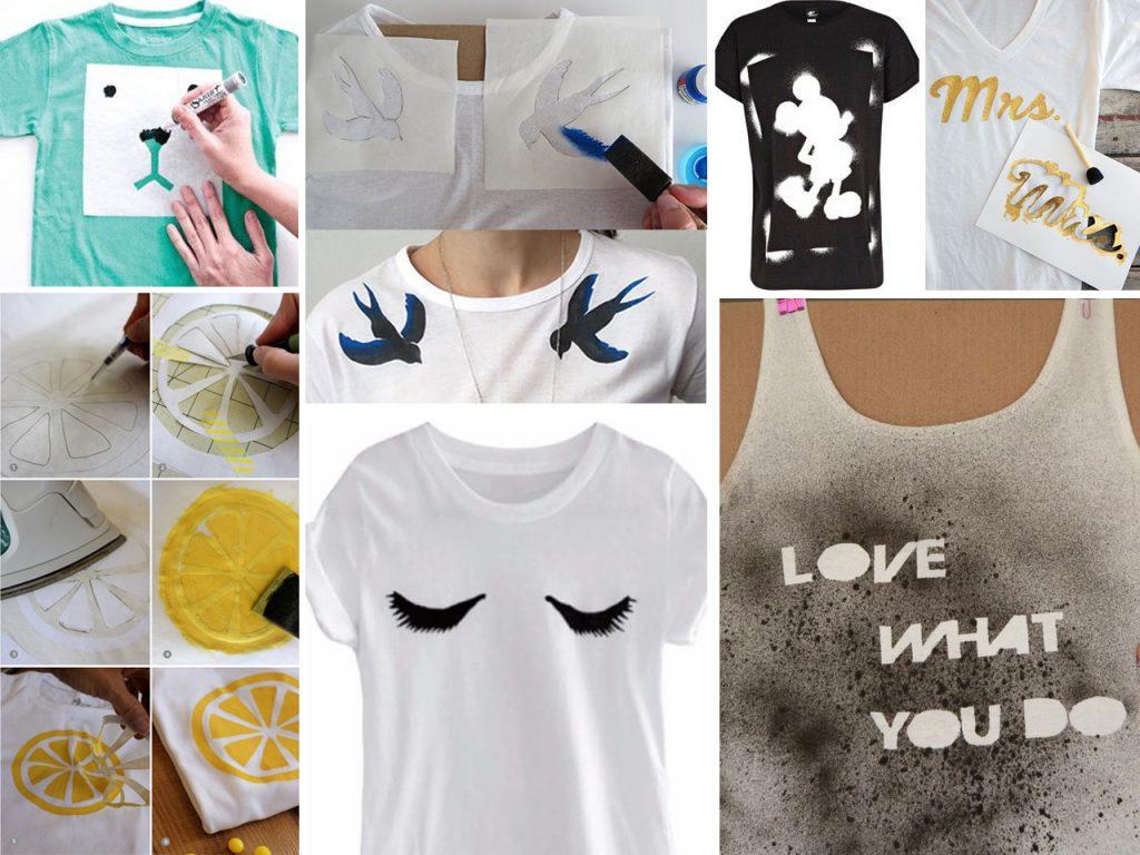 pintar camisetas con plantillas