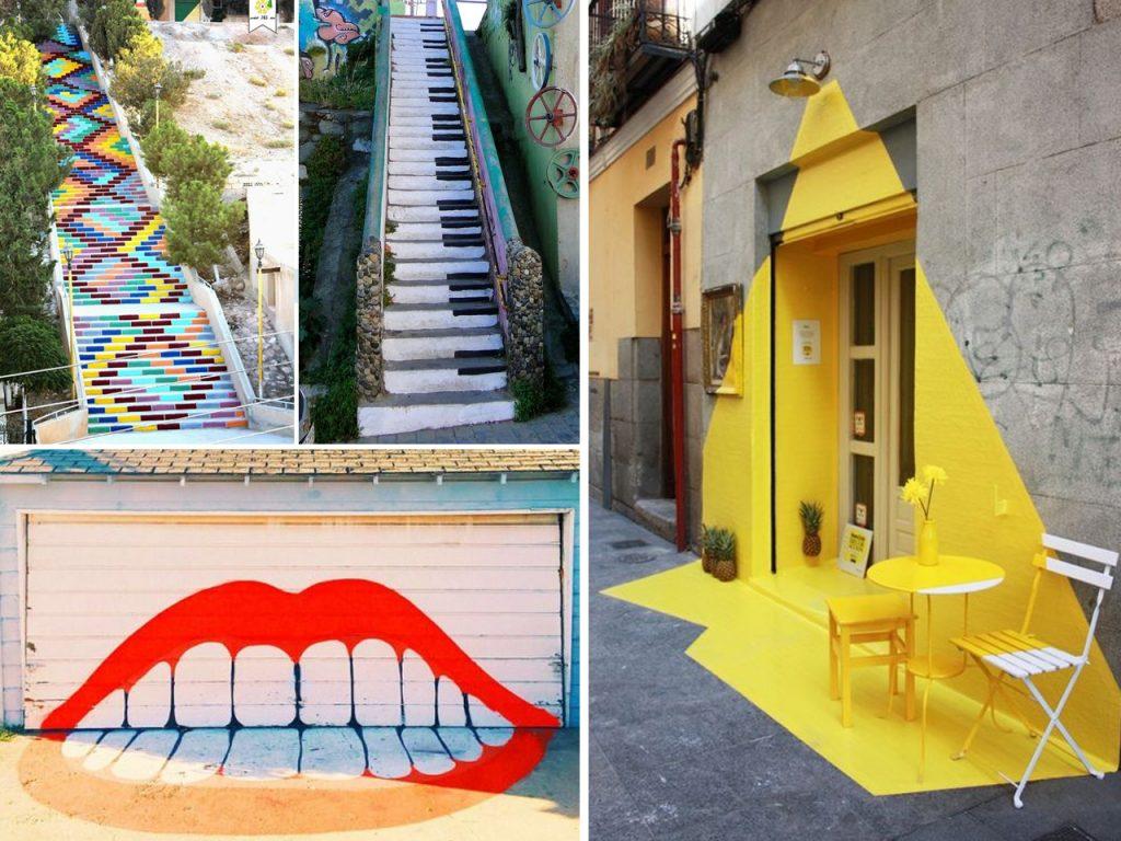 pintura mural en exteriores