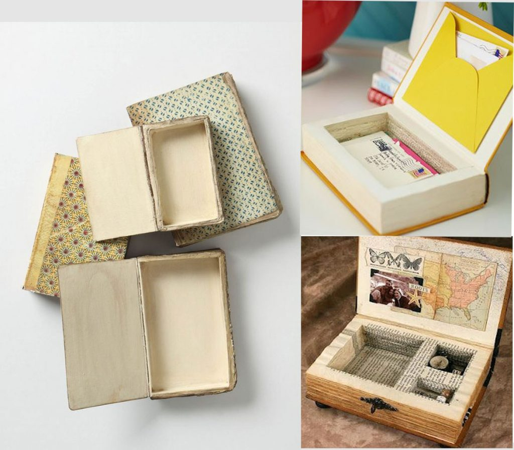 7 ideas originales para decorar con libros - Cajas para decorar manualidades ...