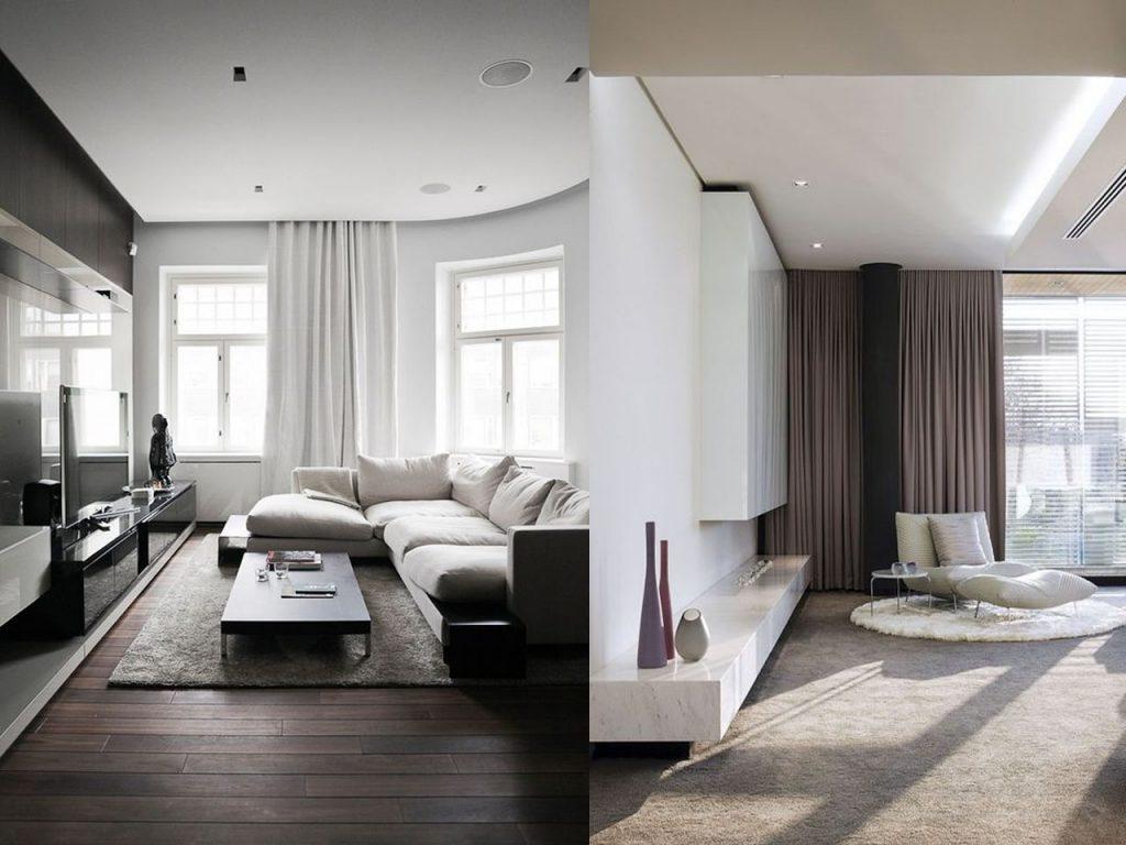 Decoraci n minimalista para el sal n de tu casa - Mobiliario minimalista ...