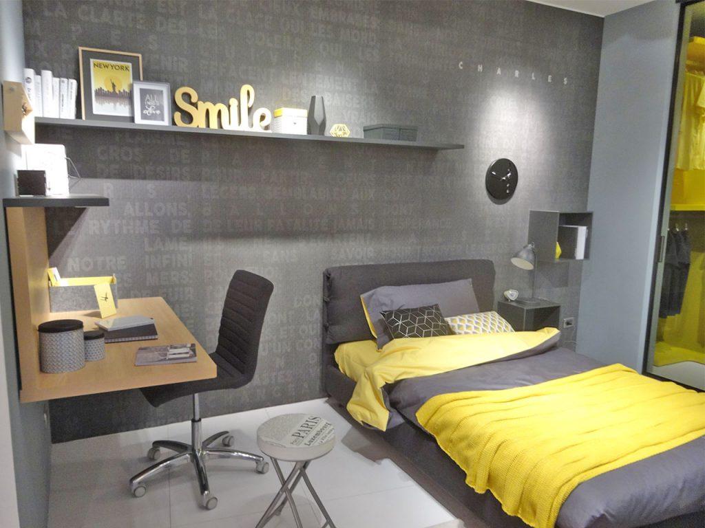 decoración habitación en gris