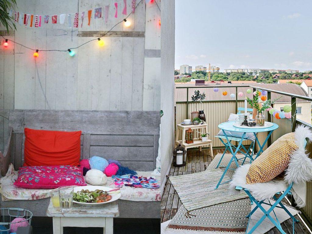 luces para decorar terrazas