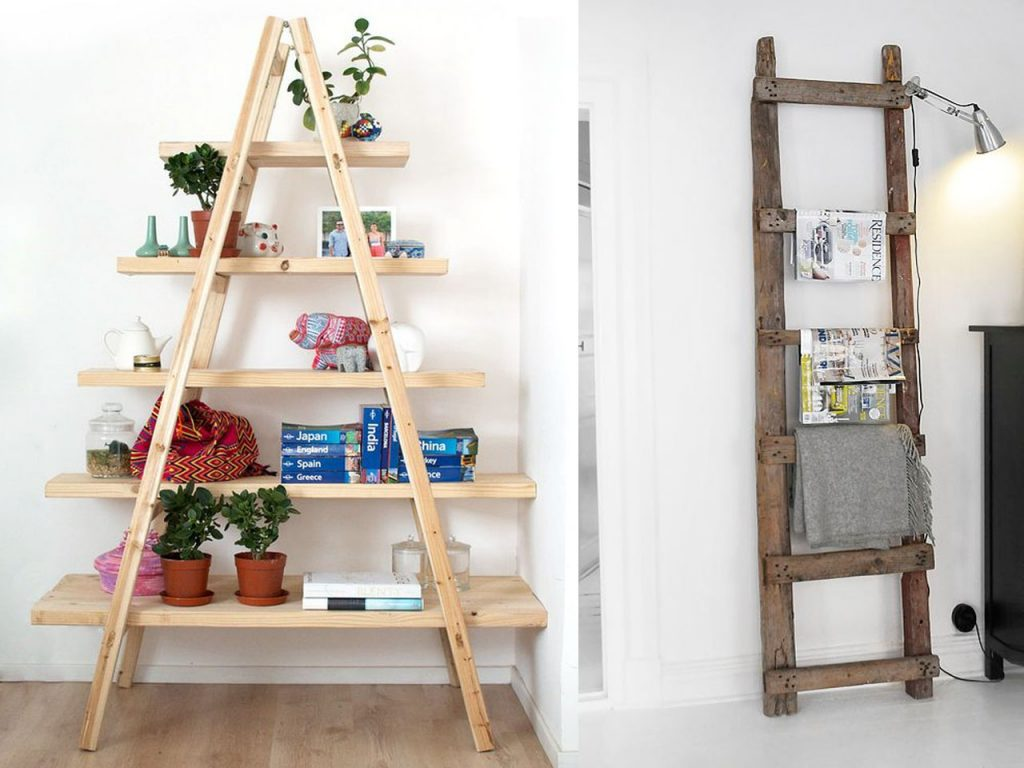10 formas de reciclar escaleras de madera On escalera madera decoracion