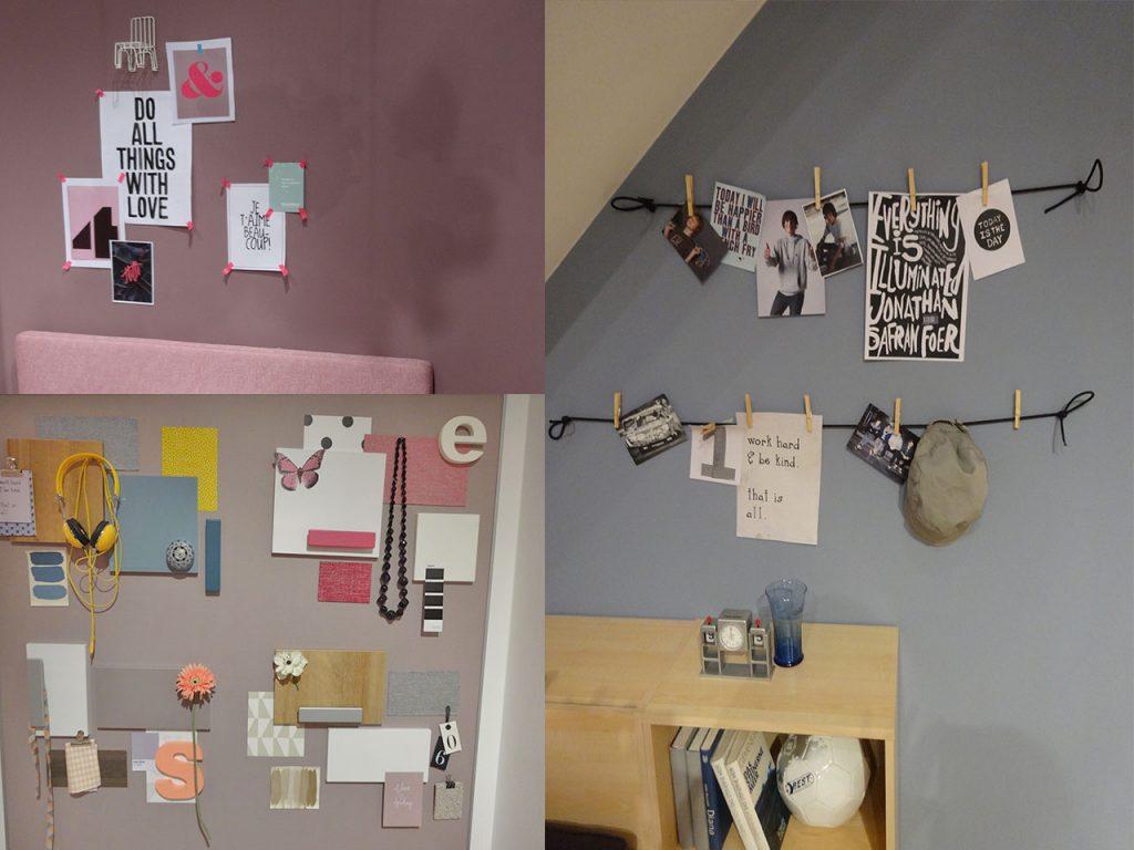 moodboard en habitaciones juveniles