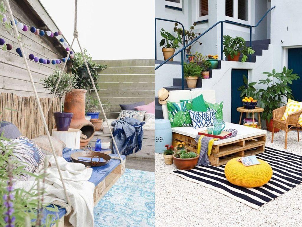 decoración de terrazas con palets