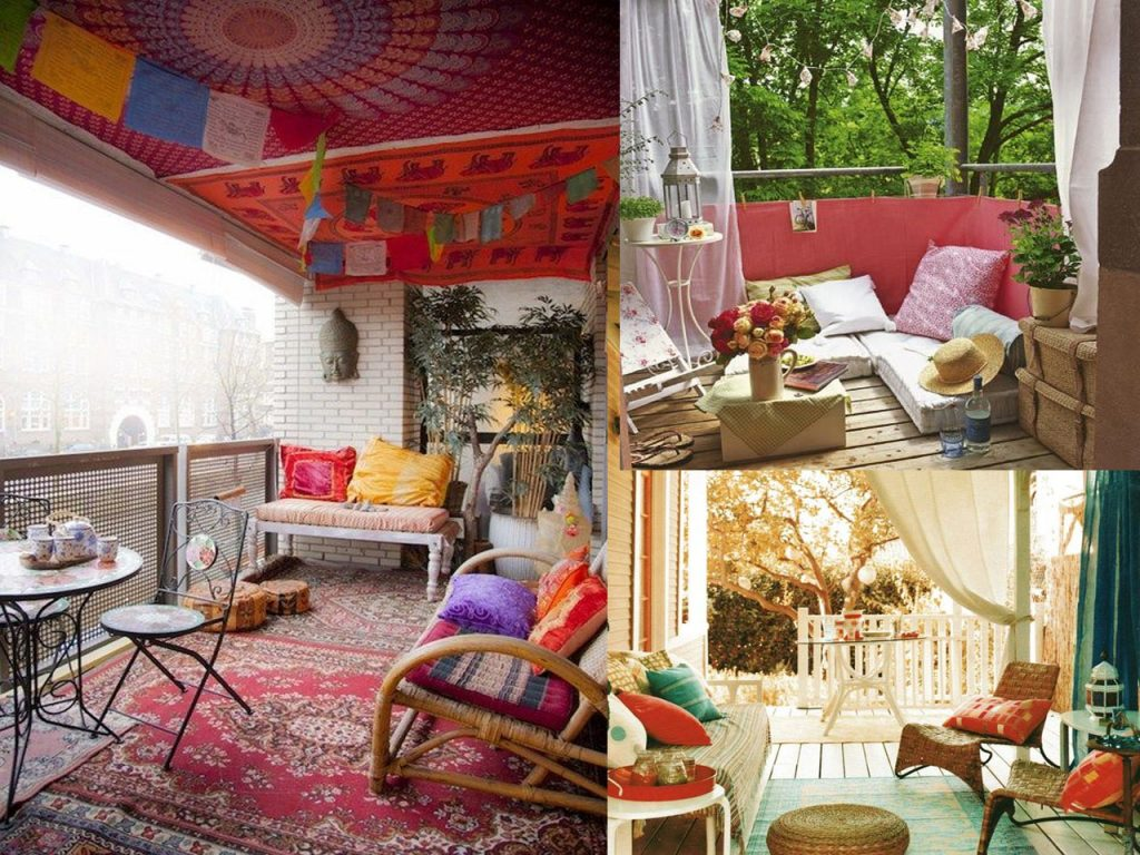 6 claves para la decoraci n de terrazas modernas boho chic for Muebles hippies
