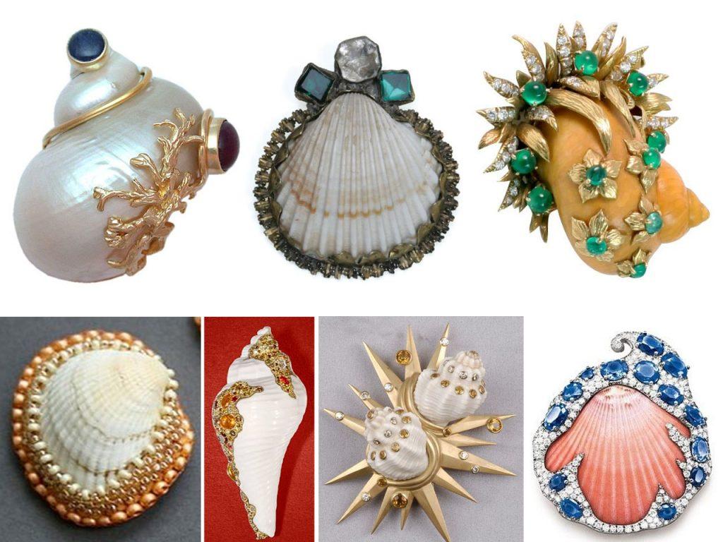 hacer broches con conchas de mar