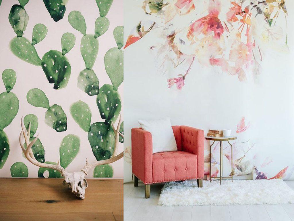 7 estampados de flores ideales para tu hogar for Decoracion con figuras en la pared