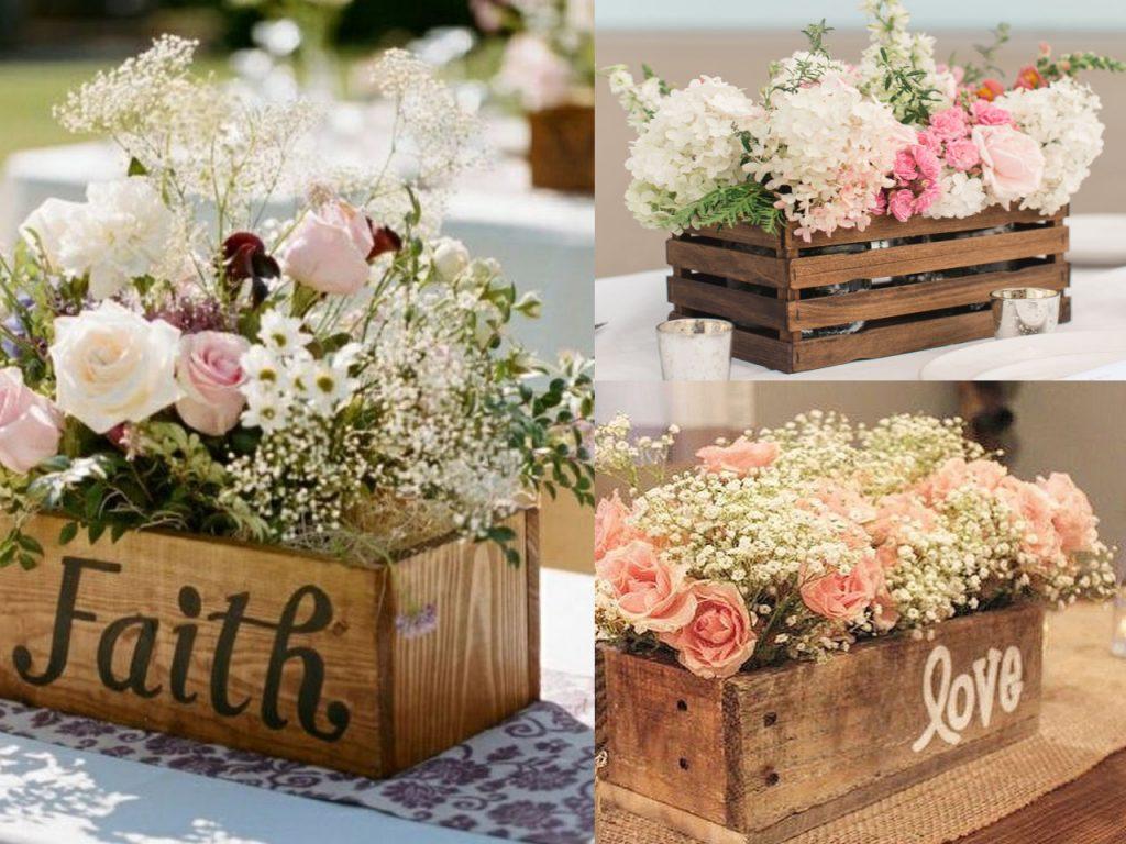 7 centros de mesa para la decoraci n de bodas originales - Decoracion troncos madera ...