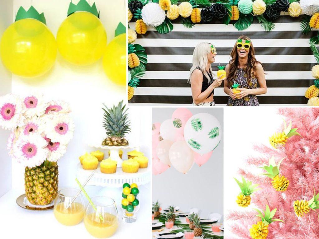 piñas y la fiesta tropical