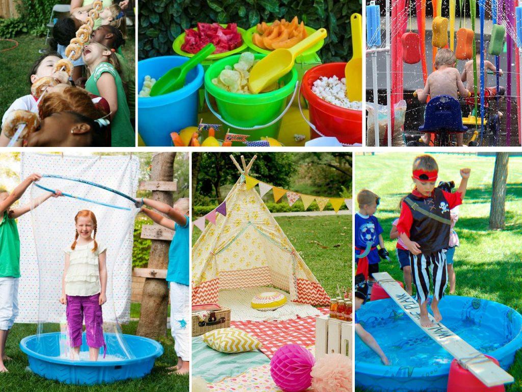 decoración de fiestas al aire libre para niños
