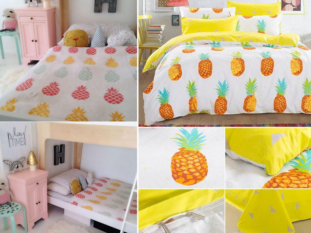 sueña con vitaminas con estas camas con piñas