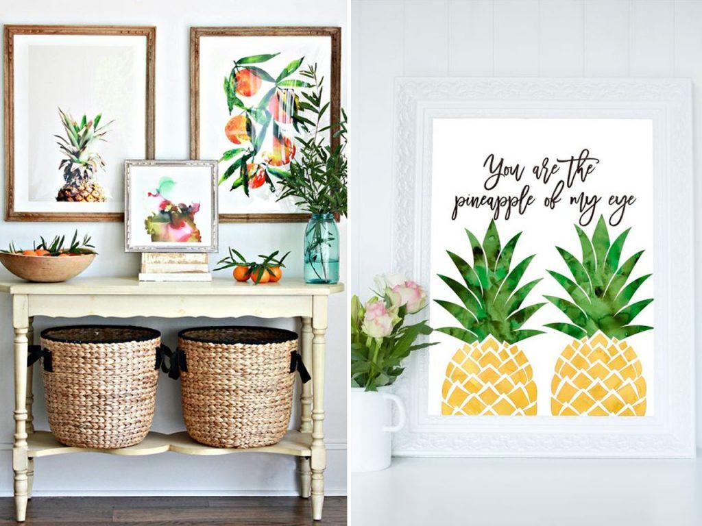 Decoraci n con pi as exotismo para tu hogar for Arreglos decorativos para hogar