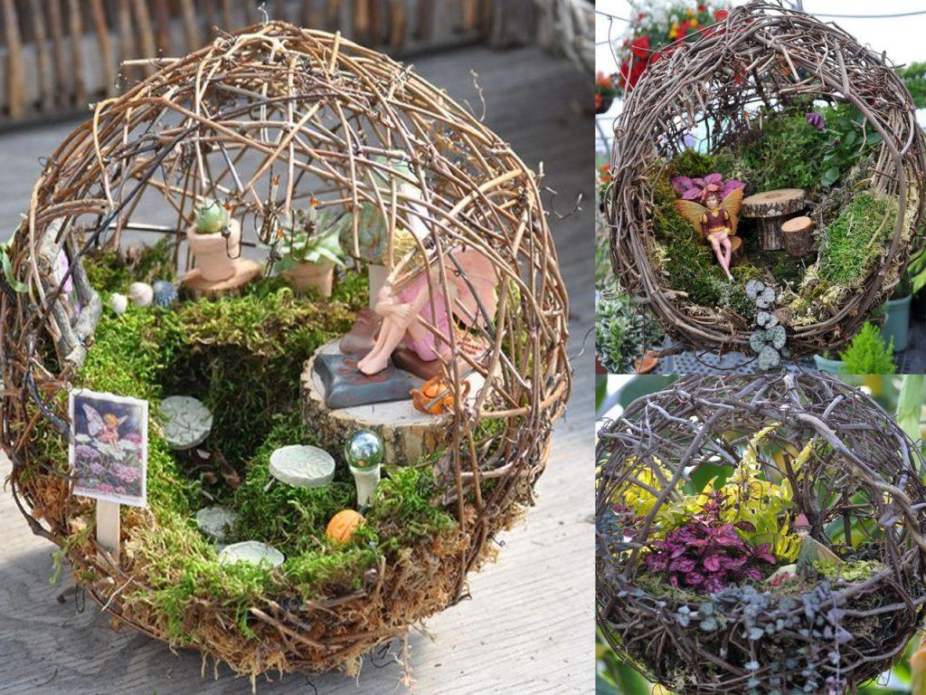 7 jardines en miniatura muy originales for Jardines con piedras y troncos