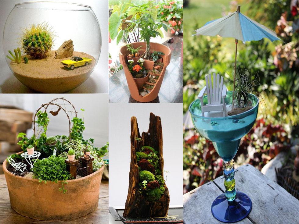 7 jardines en miniatura muy originales - Ideas originales jardin ...