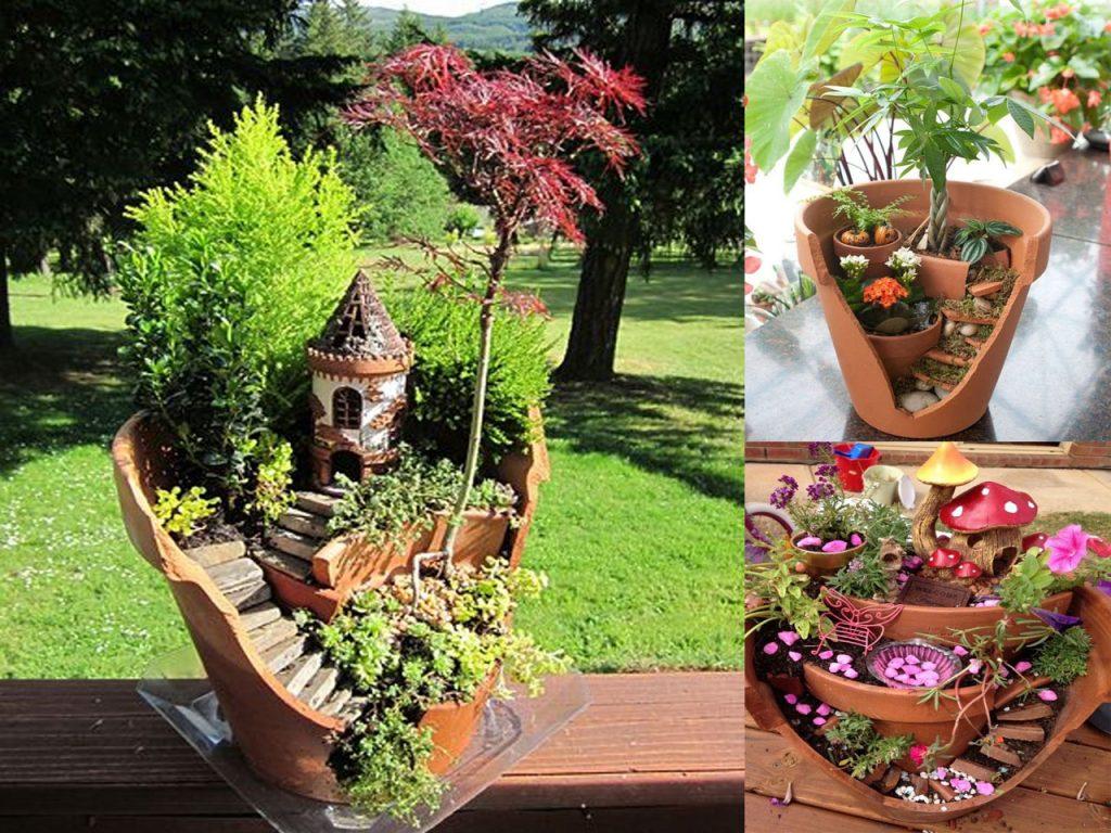 7 jardines en miniatura muy originales for Decoracion jardin macetas