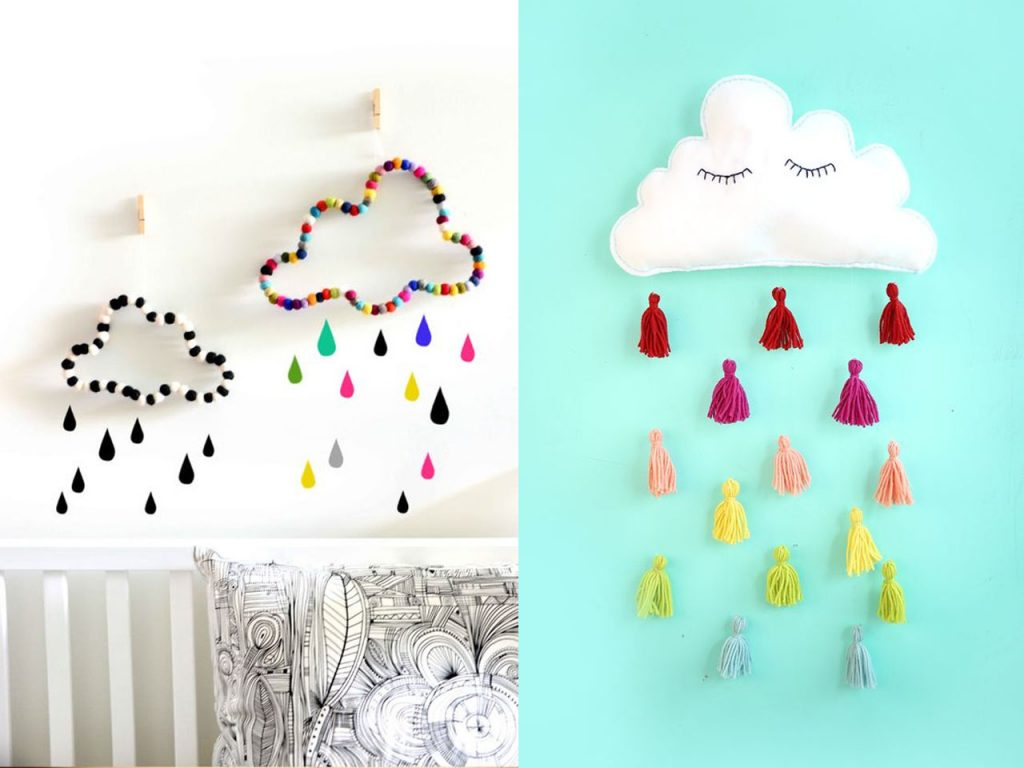 9 ideas de decoraci n con nubes para tu hogar for Ideas para decorar paredes infantiles