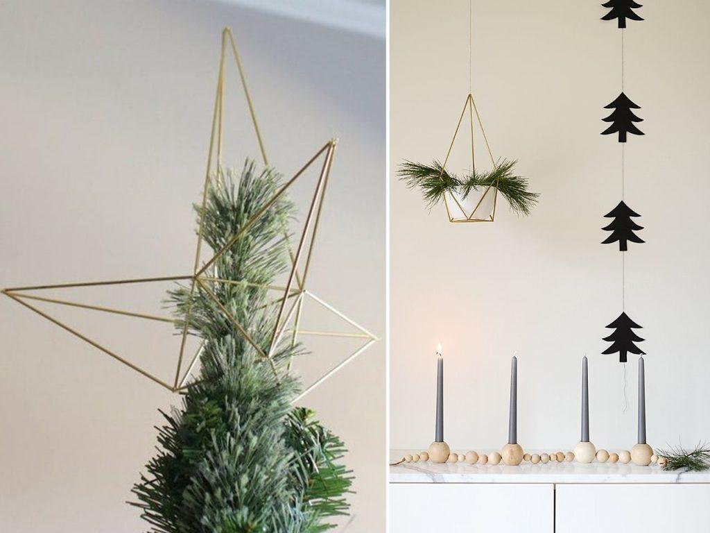 decoración navideña nórdica