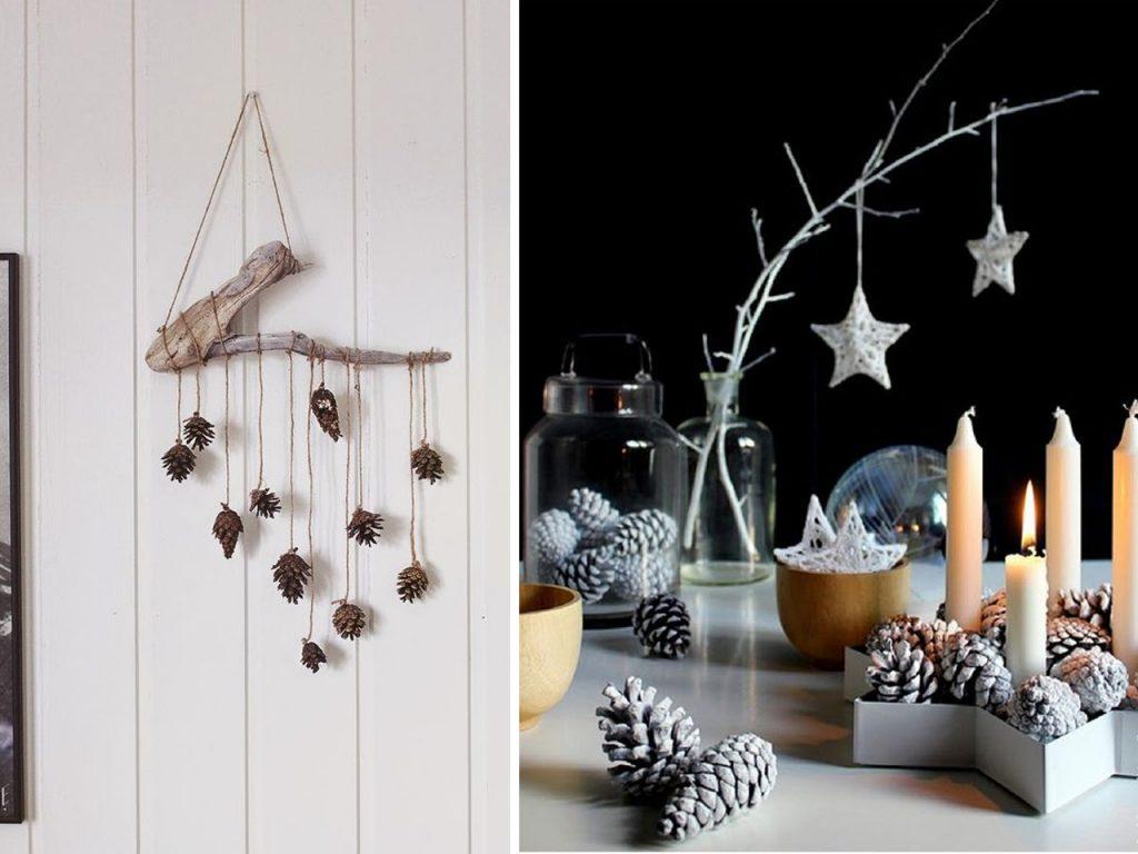 elementos bonitos decoración navideña nórdica