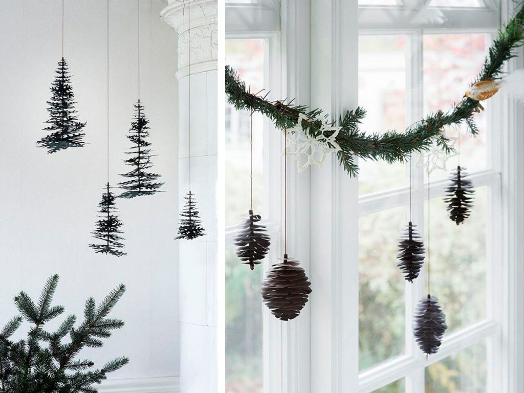guirnalda decoración navideña nórdica