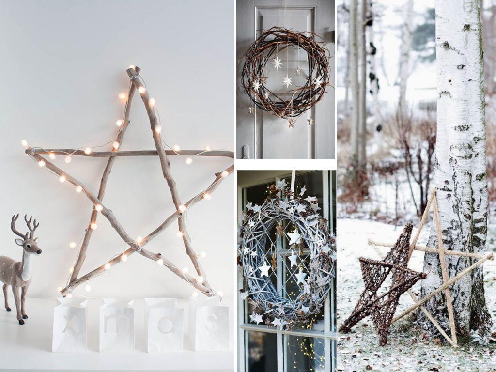 estrellas decoración navideña nórdica