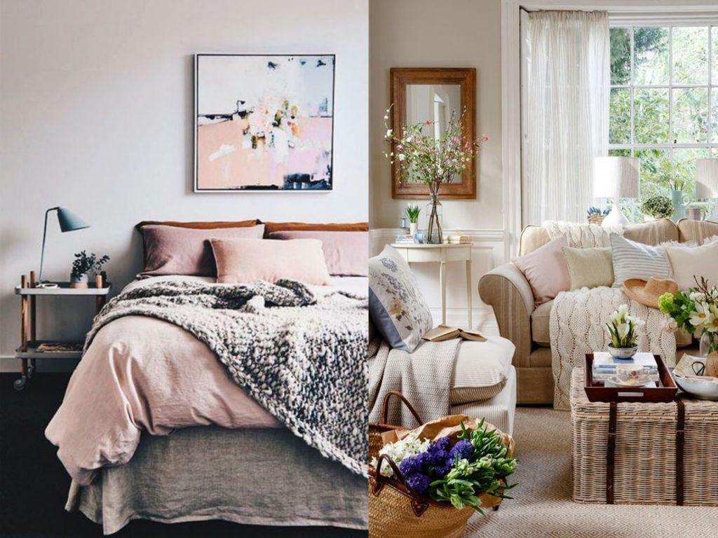 Colores cálidos decoración de casas acogedoras
