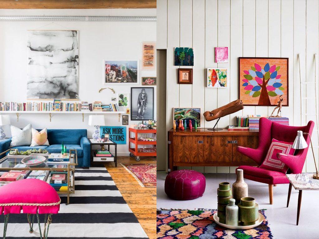 colores decoración ecléctica