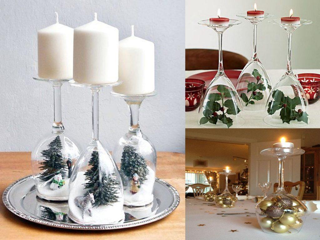Copas decorativas navidad
