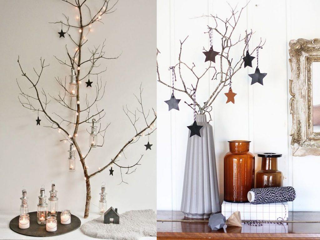 9 ideas de decoraci n navide a econ mica y bonita - Ramas decoradas ...