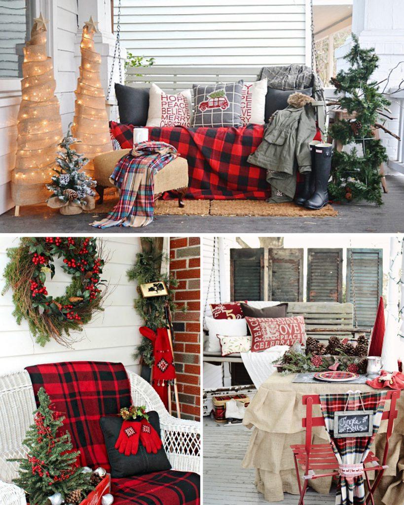 decoración navideña para balcones acogedores