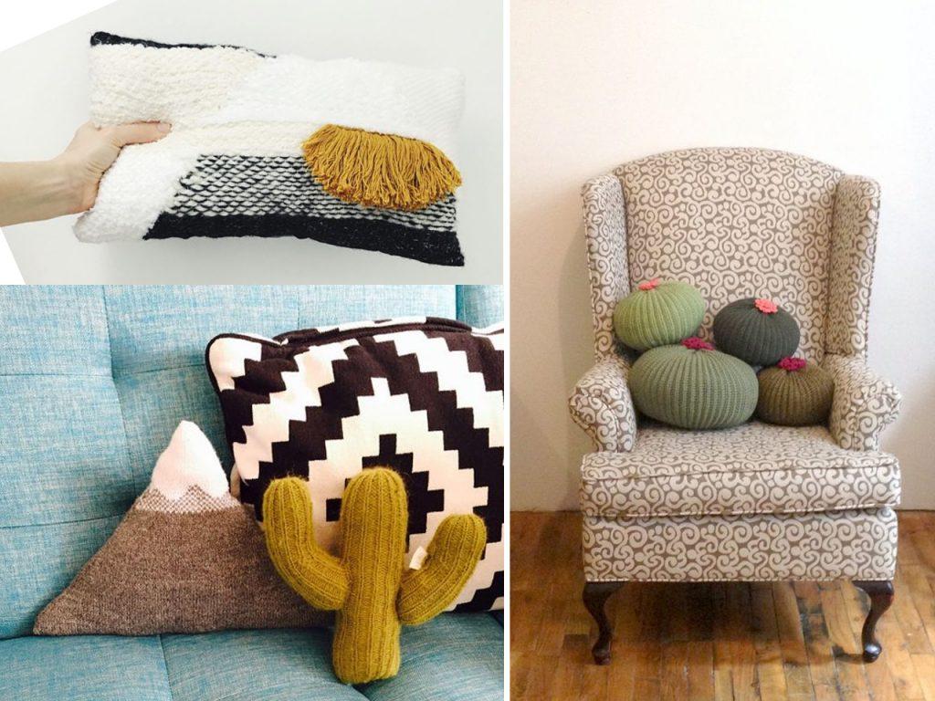 cojines decorar con lana