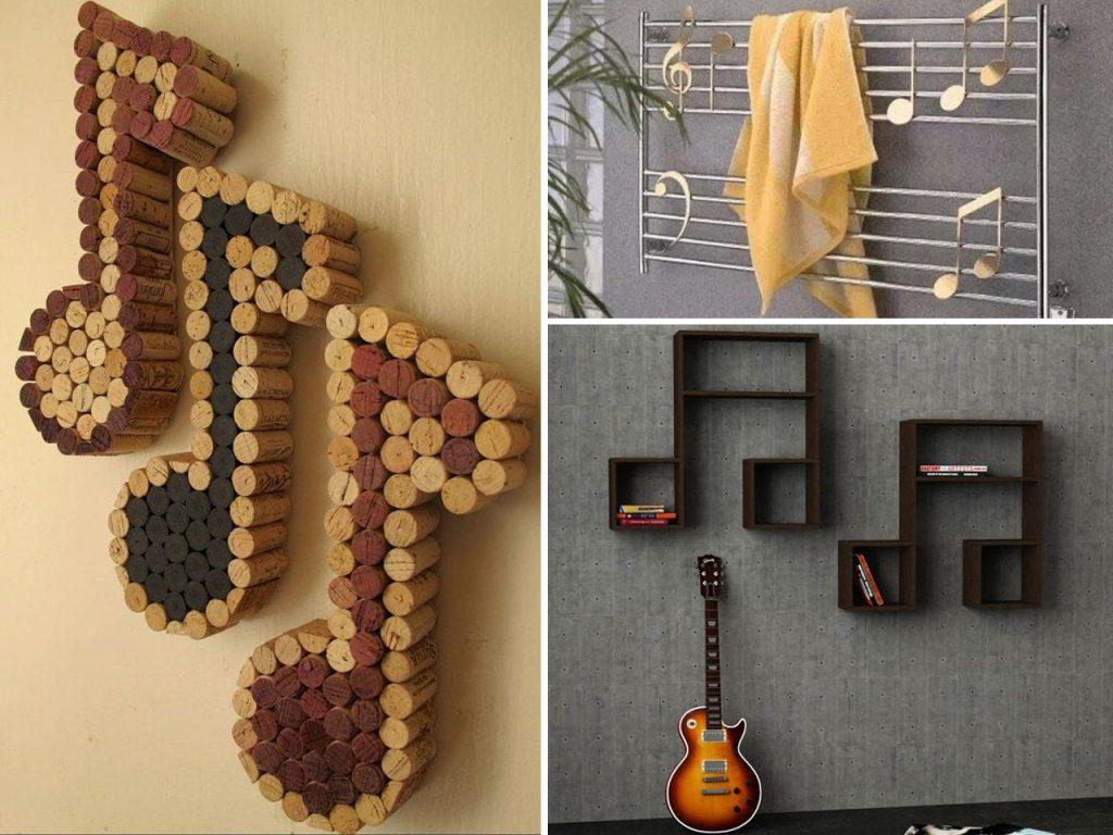 decoración musical notas de música
