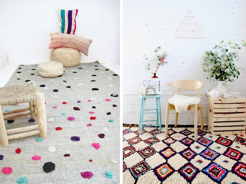 decorar con lana alfombras