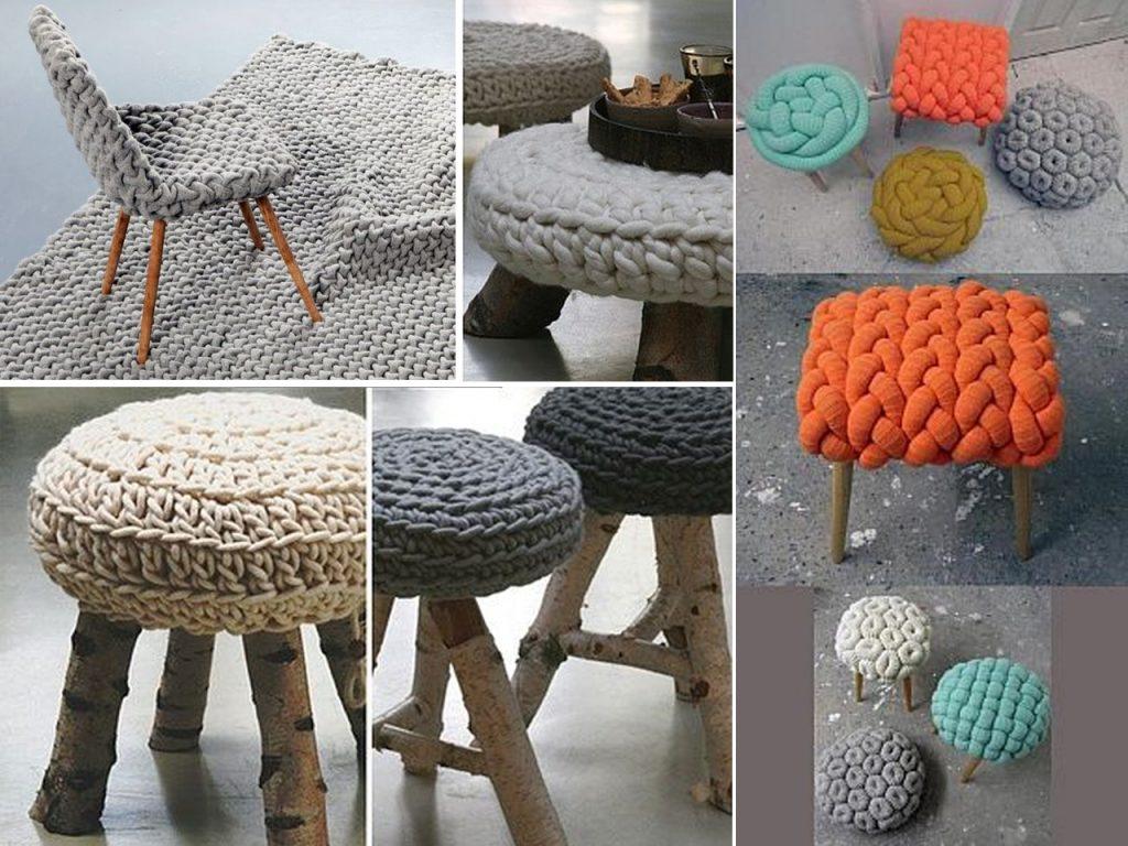 muebles decorar con lana