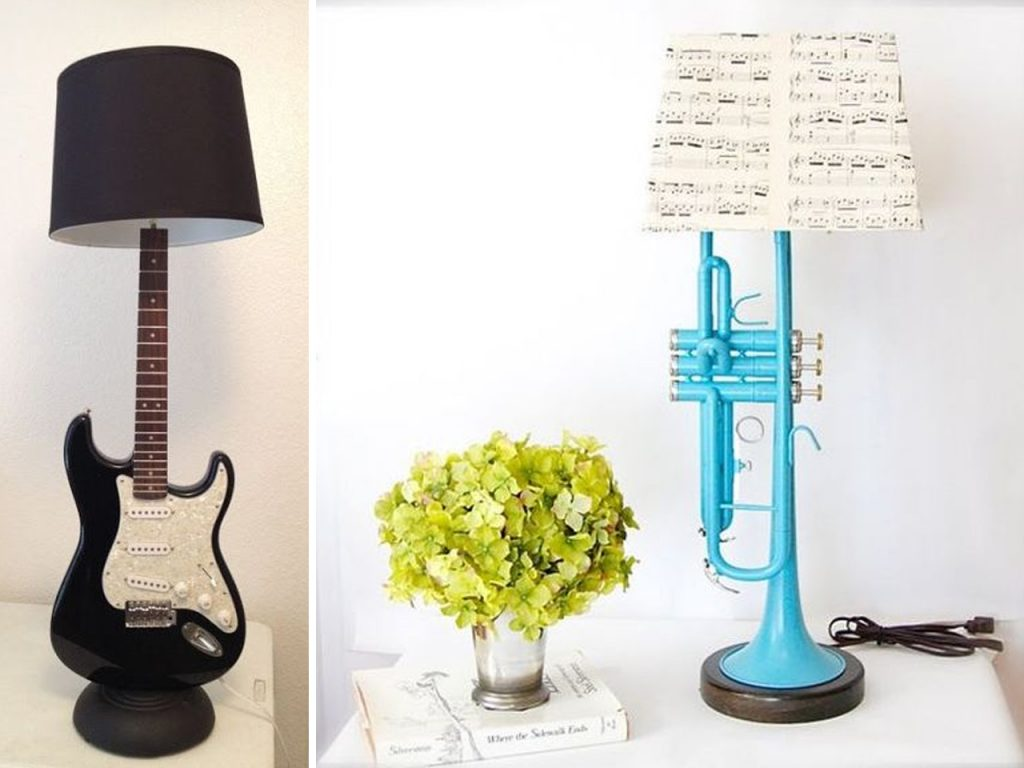 decoración musical lamparas