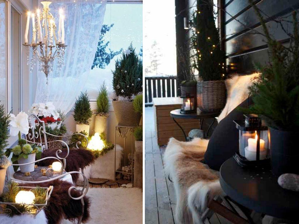 decoración navideña para balcones