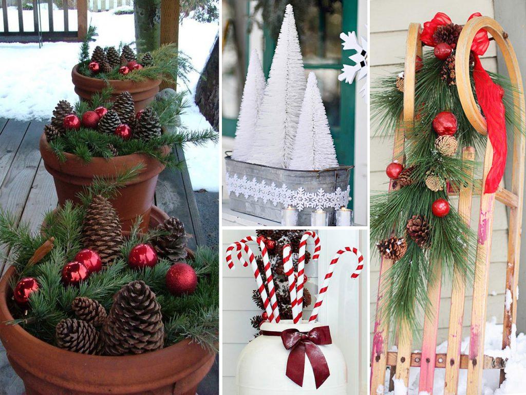 decoración navideña para balcones composiciones