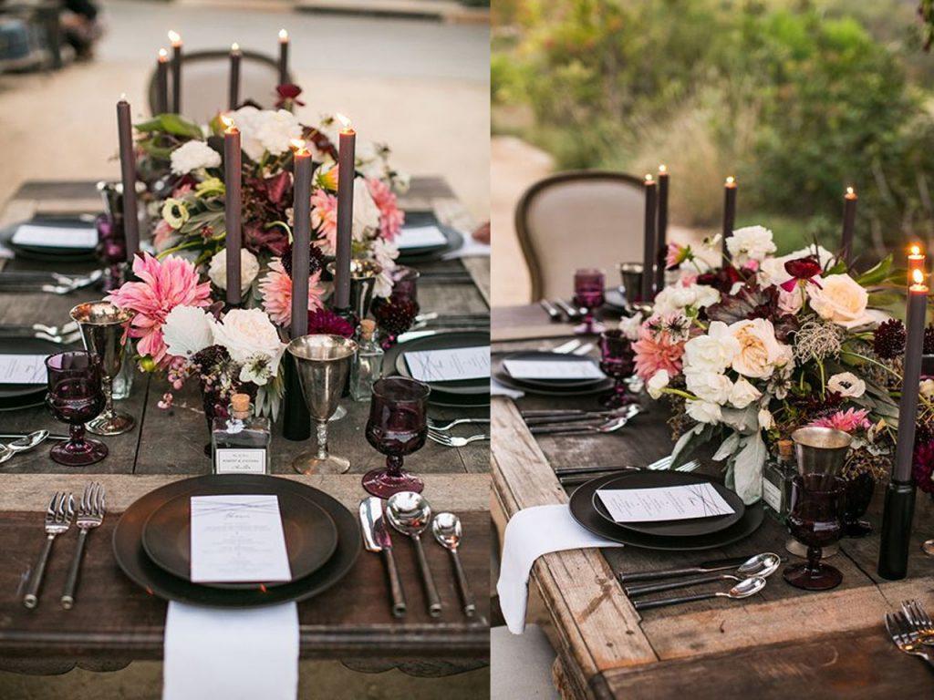 decoración mesa Navidad elegancia