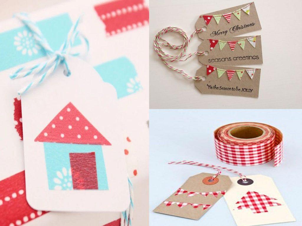 etiquetas de Navidad washi tape