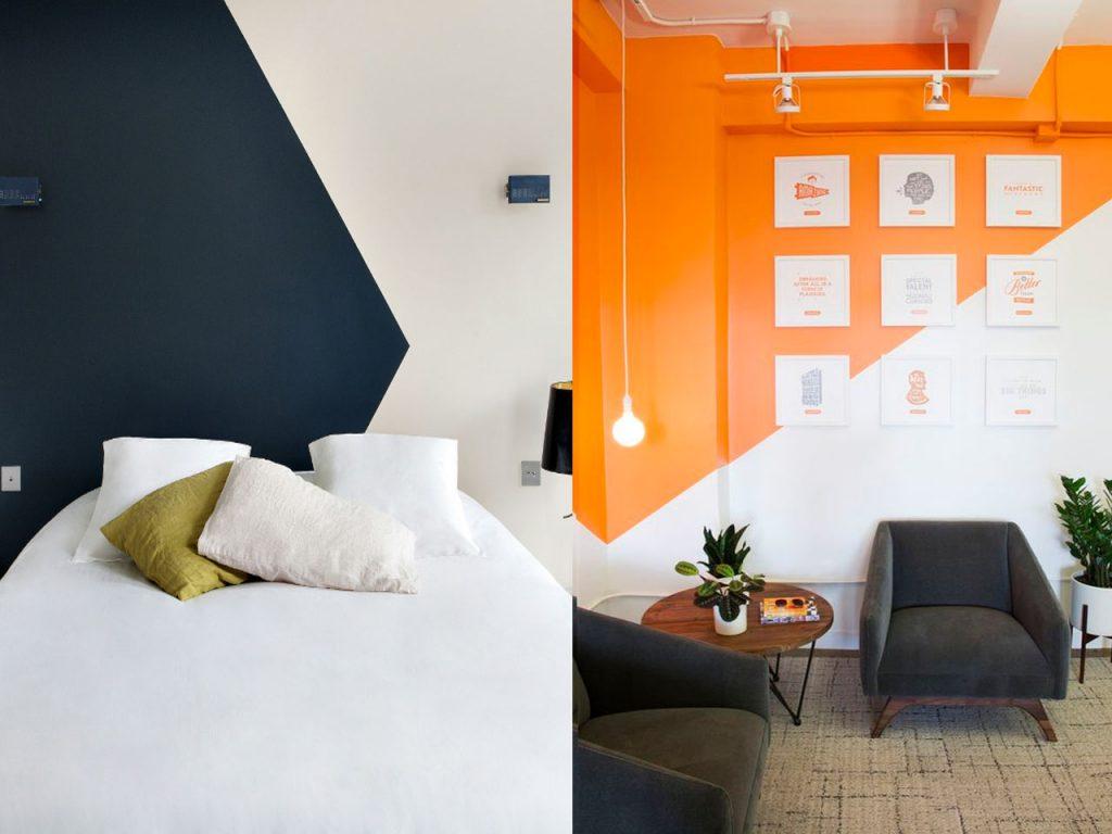 Tendencias 2017 paredes de dos colores - Pintar paredes de dos colores ...