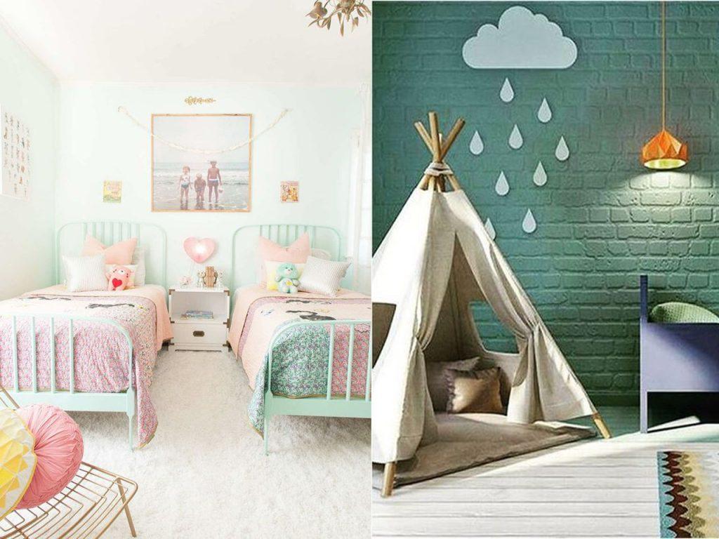 decorar en color verde claro habitación infantil
