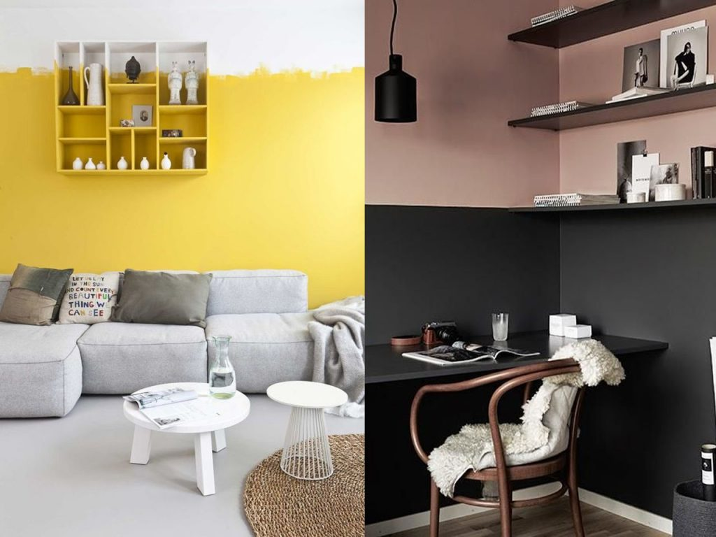 Tendencias 2017 paredes de dos colores - Tendencias en pintura de paredes ...