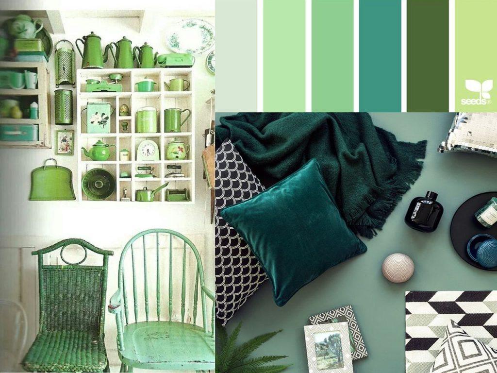 decorar en color verde