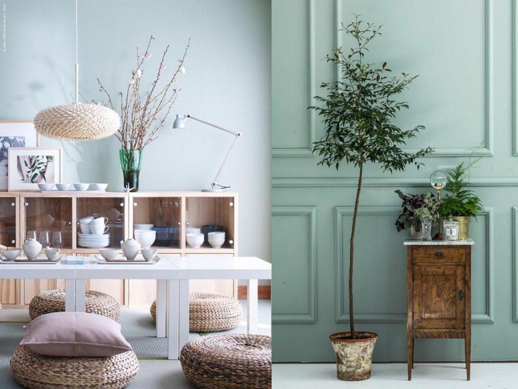 paredes decorar en color verde