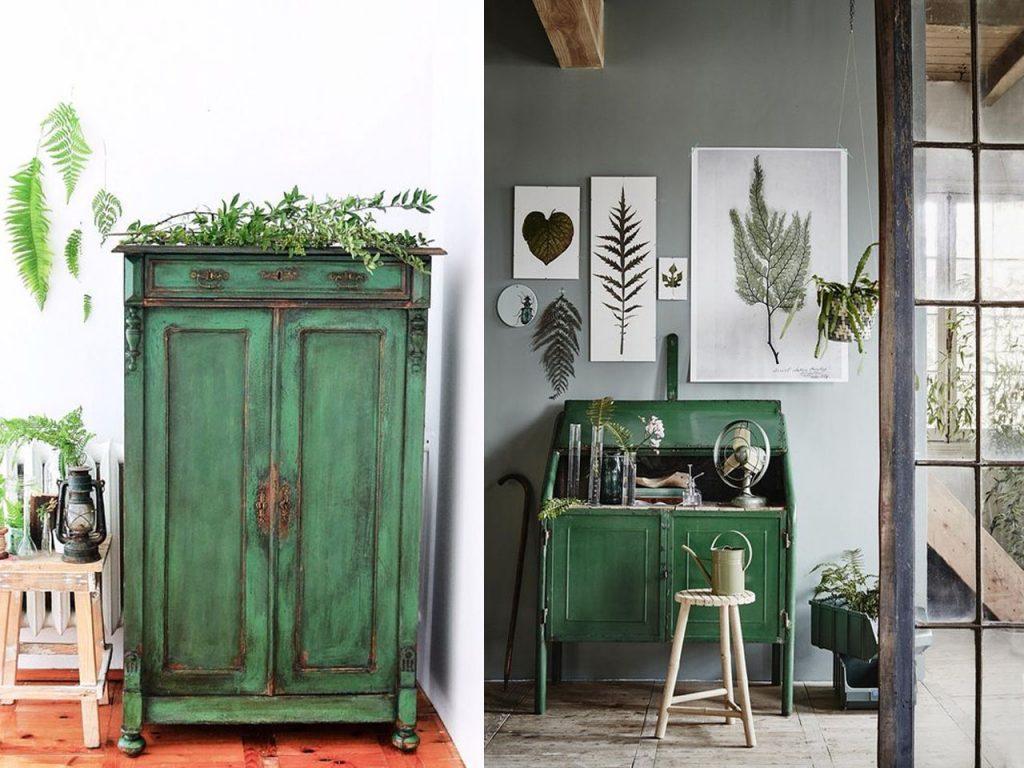 decorar en color verde chalk paint