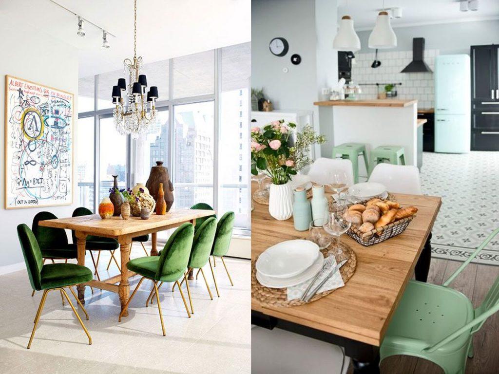 mobiliario decorar en color verde