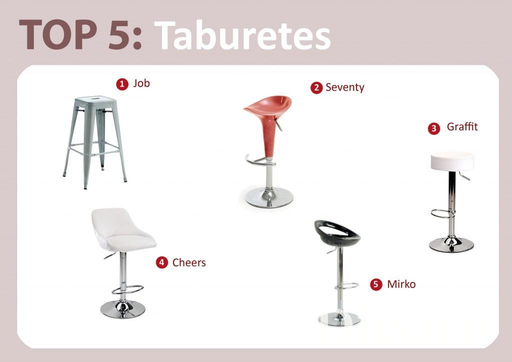 Top 5: Taburetes