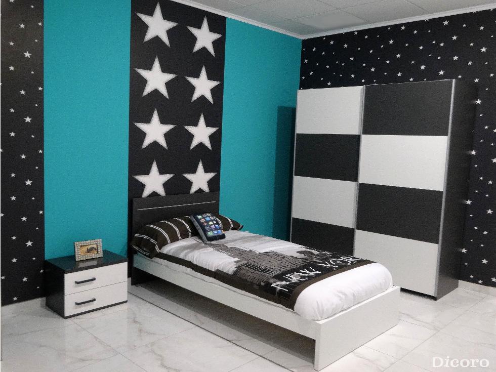Decorar la habitación con un aire informal y juvenil.