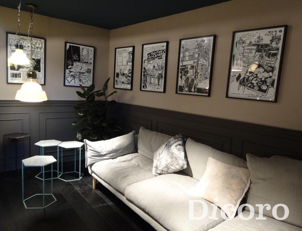 Un salón tradicional con toques muy modernos.