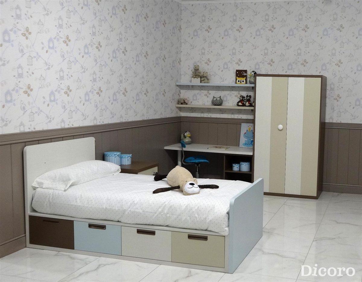 Habitaciones infantiles dulces y relajados con colores neutros
